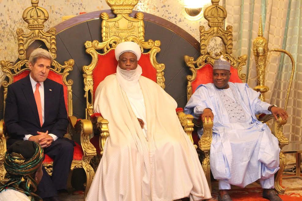 Secretary Kerry, Sultan Abubakar and Governor Tambuwal