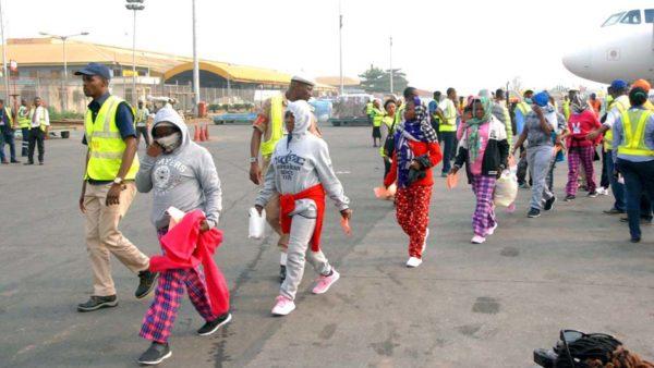 Nigerians returning from Libya