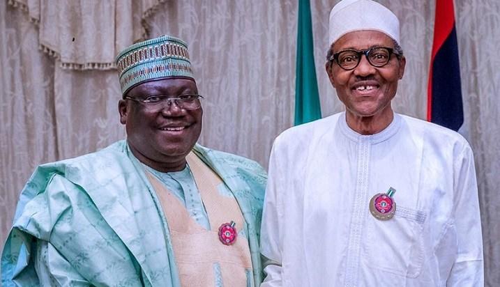 Senate President, Ahmed Lawan; President Muhammadu Buhari
