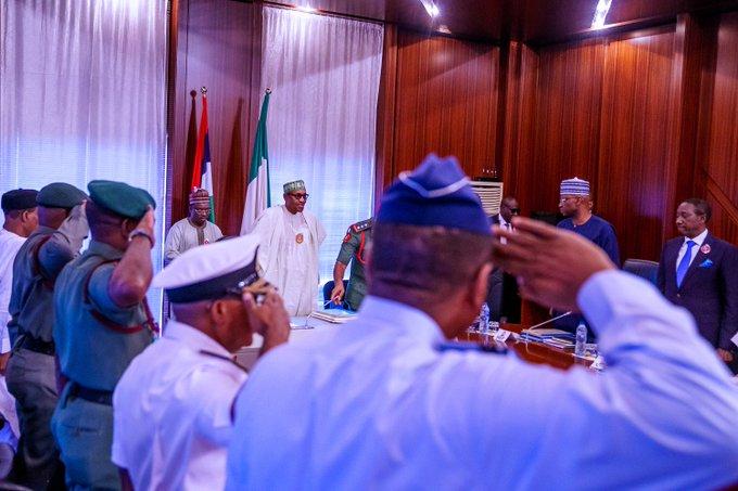 Nigeria Buhari service chiefs