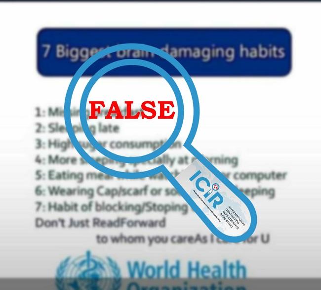 brain-damaging habits