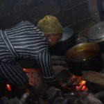 Nigeria Women clean cooking