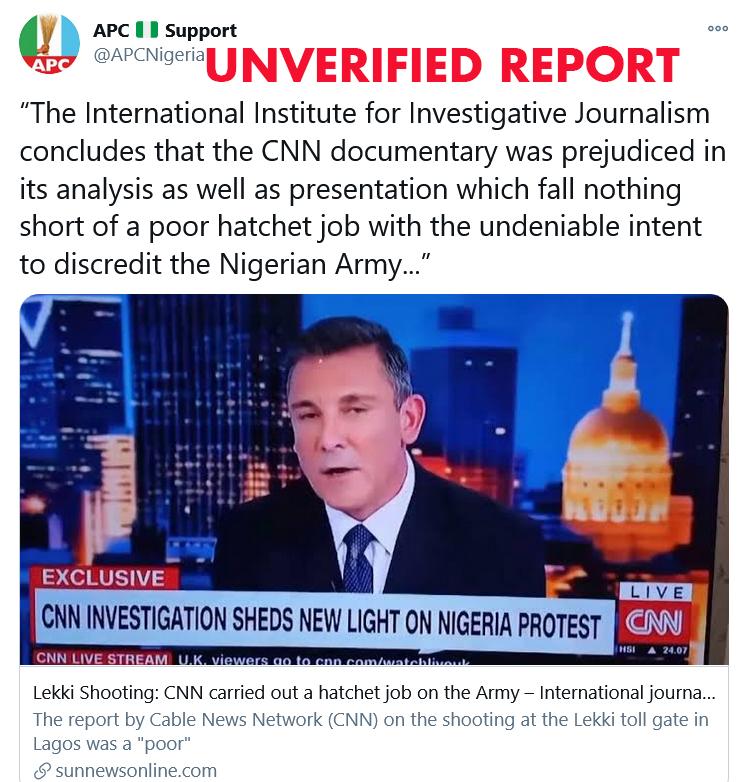 CNN Lekki shooting