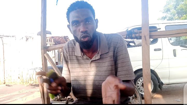 Farouk, a driver at the Ramin Alkhairi Park, Kano