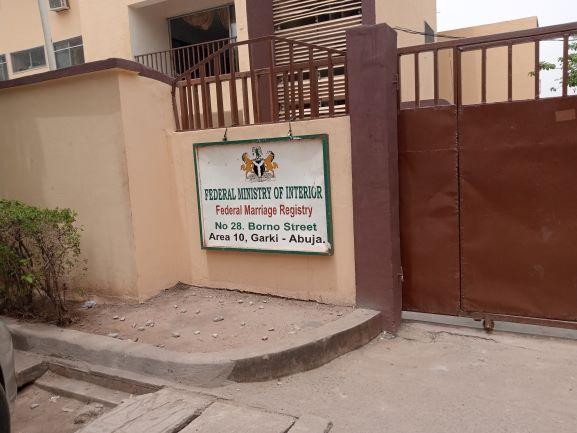 Federal Marriage Registry, Abuja. Photo credit - Jennifer Ugwa