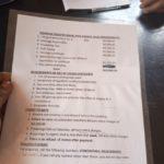 Printed requirements at Buwari marriage registry