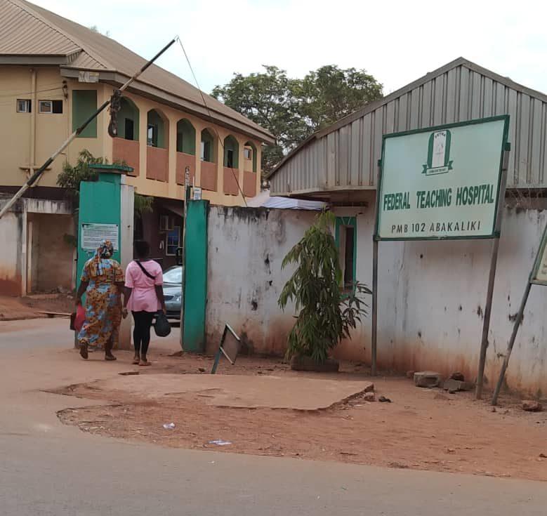 A federal teaching hospital, Abakiliki, Ebonyi State.