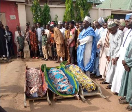 Final burial rites for Aliyu, Musa and Yusuf
