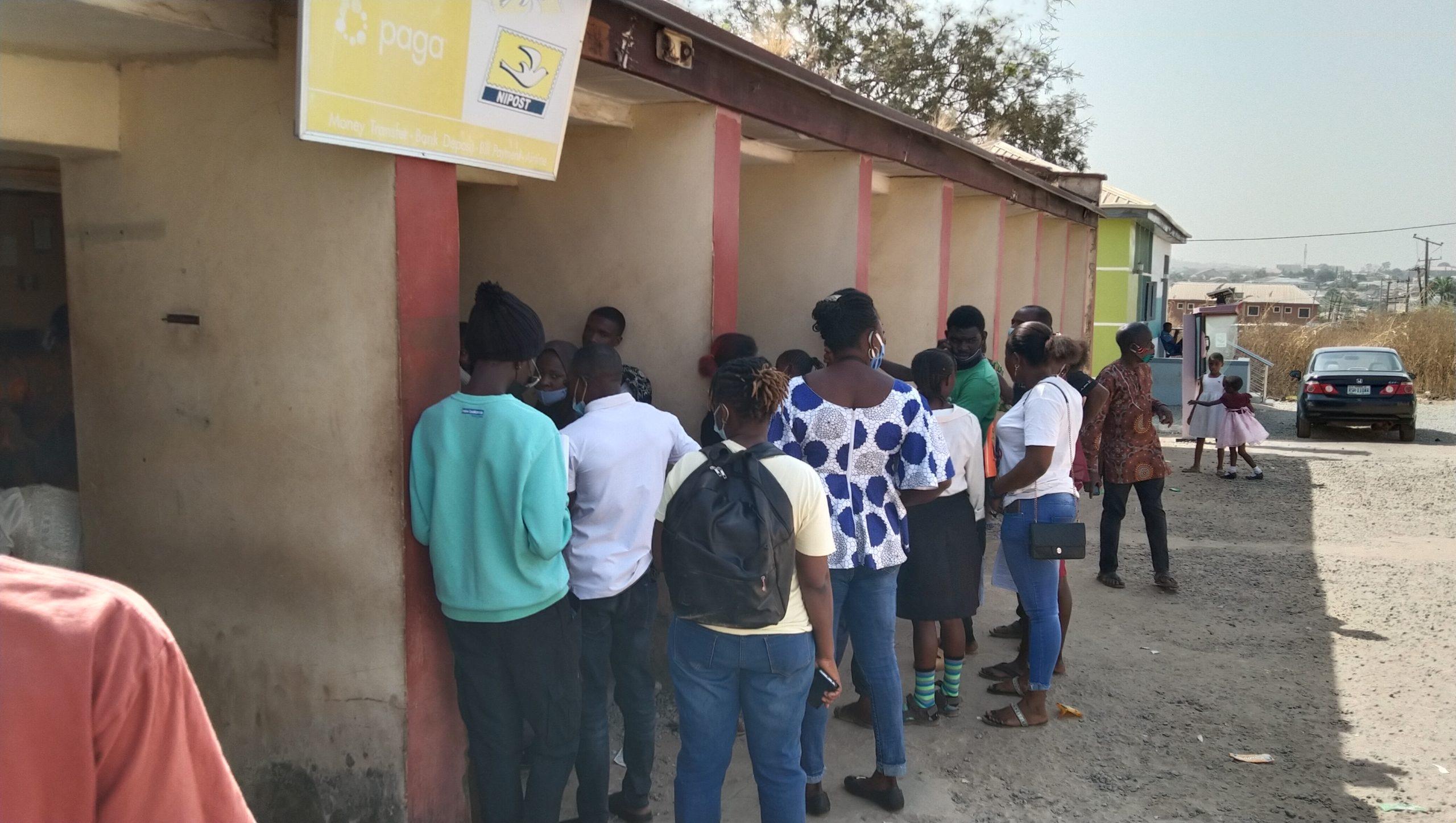 Applicants at an enrolment centre in Kubwa, Abuja