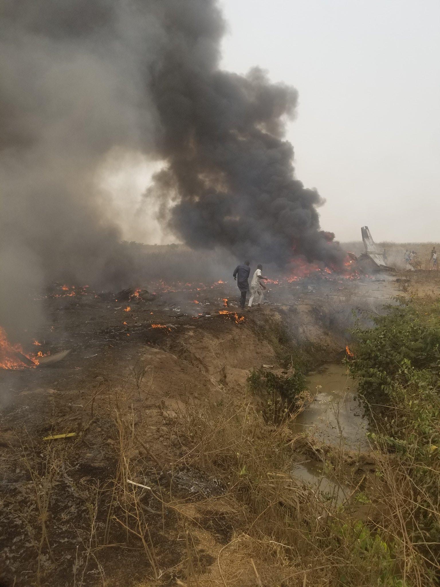 Military aircraft crash in Abuja