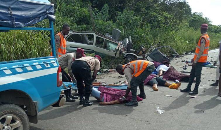 Scene of road accident
