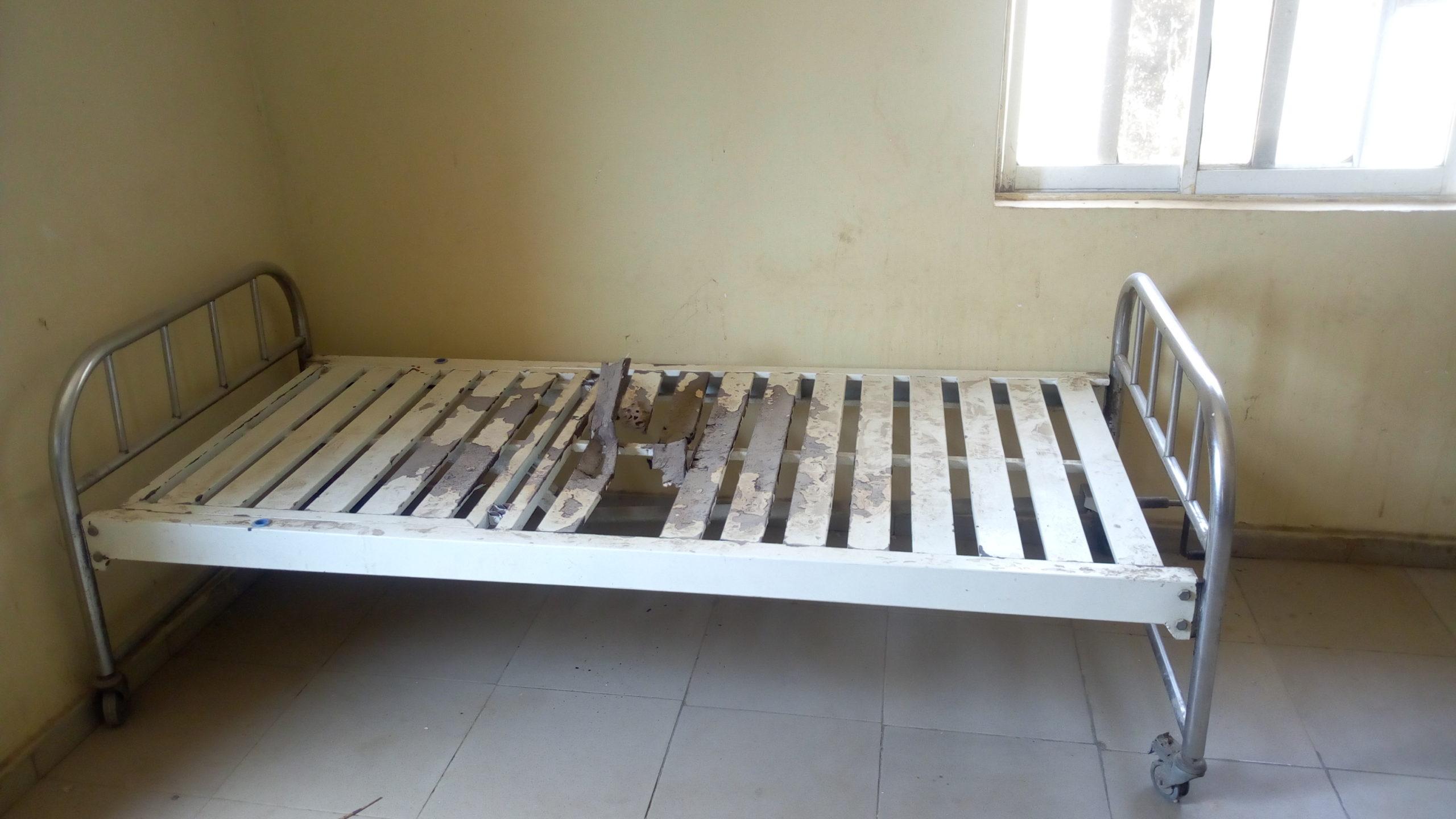 Worn out bed at Bauchi PHC