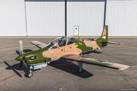 Super Tucano fighter jet