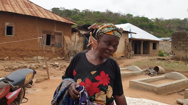 Sidi Ibrahim, another displaced woman farmer, taking refuge in Ayete town, Ibarapa North LGA, Oyo State. Photo Credit: Olugbenga Adanikin, The ICIR.