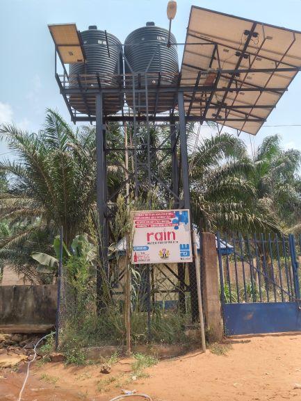 The solar-powered borehole in Ndiuno