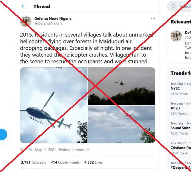 A screenshot of the misleading tweet.