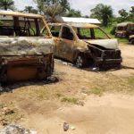 Burnt Vehicles at Uzuakoli, Abia state