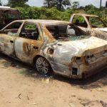 Burnt vehicles at Uzuakoli, Abia state_1