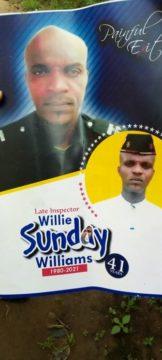 Late Williams Sunday Of Umoba Police station, Abia state