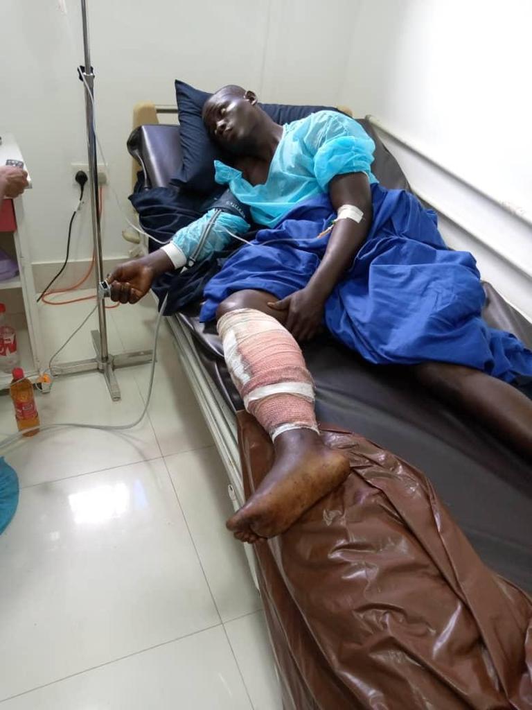 Olalekan Falaye at the hospital