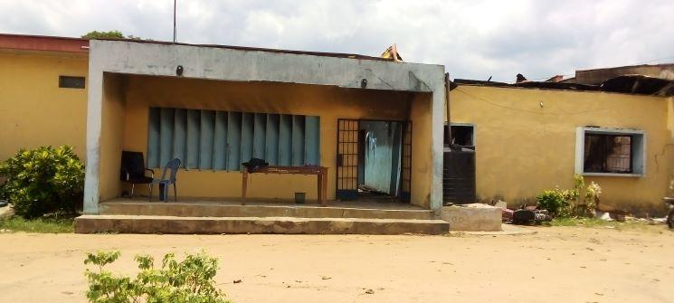 Remains of Uzoakoli Police station, Imo state