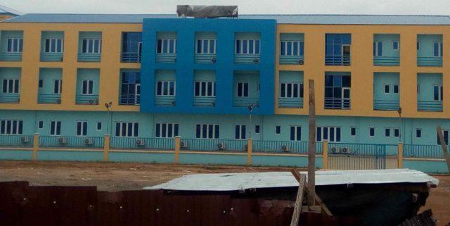 Side view of Ekiti State's new Water Corporation headquarters, Iworoko Road, Ado Ekiti. Photo credit: Marcus Fatunmole/The ICIR