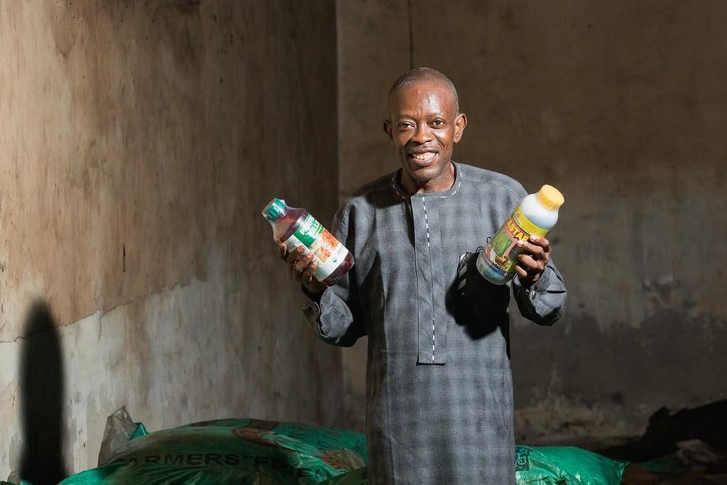 Akandu Godwin, agro-input dealer