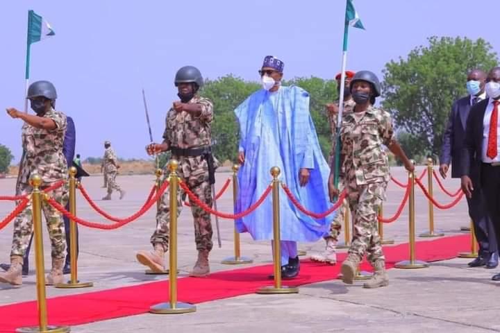 Buhari visits Borno State