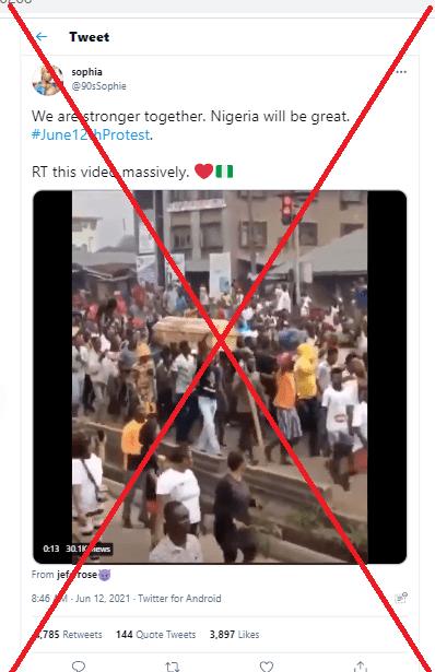 A screenshot of the tweet.