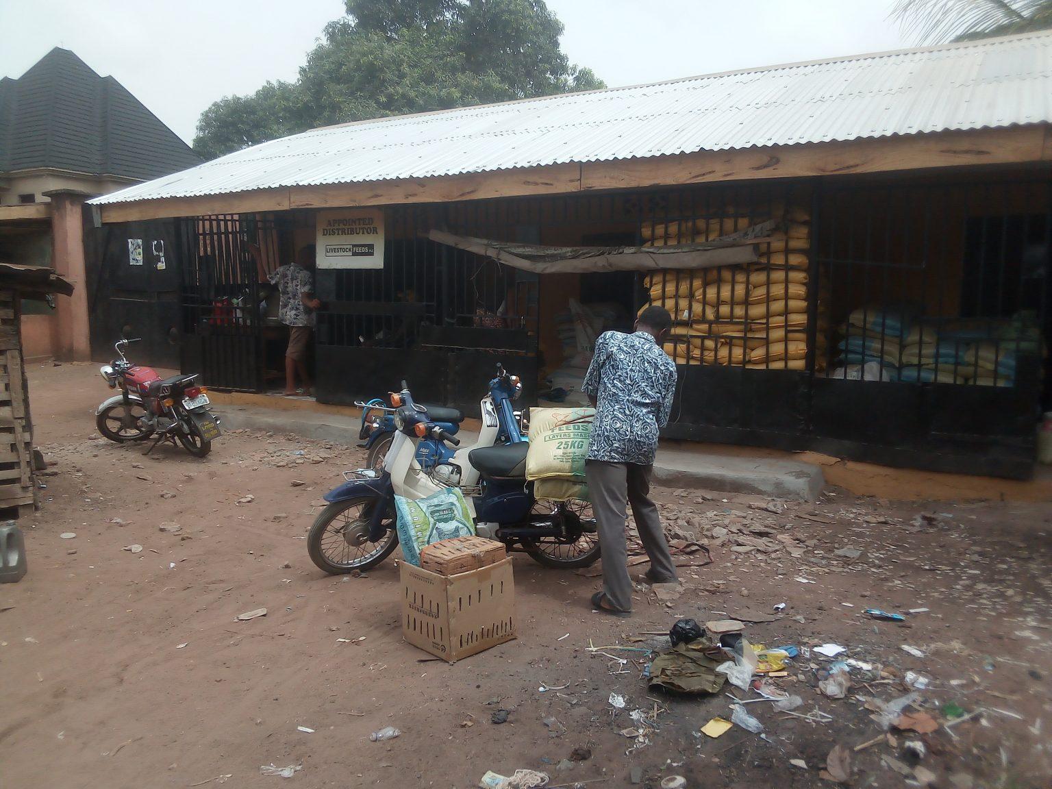 Feed shop of Mrs-Georgina Akunyiba SWOFON Co-ordinator Anambra-State