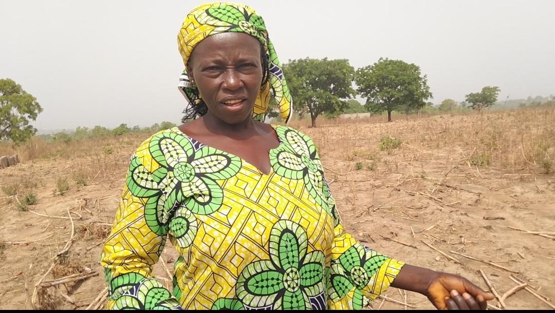 Sarah Shambuwa, farmer in Wamba LGA on her farm