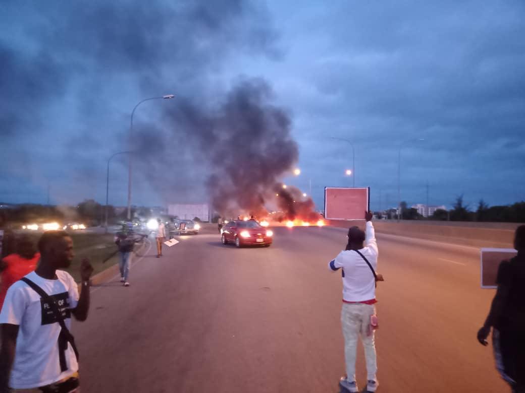 A protest scene in Nigeria