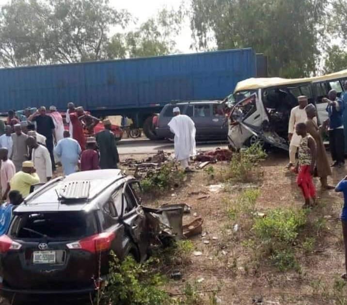 The road accident scene