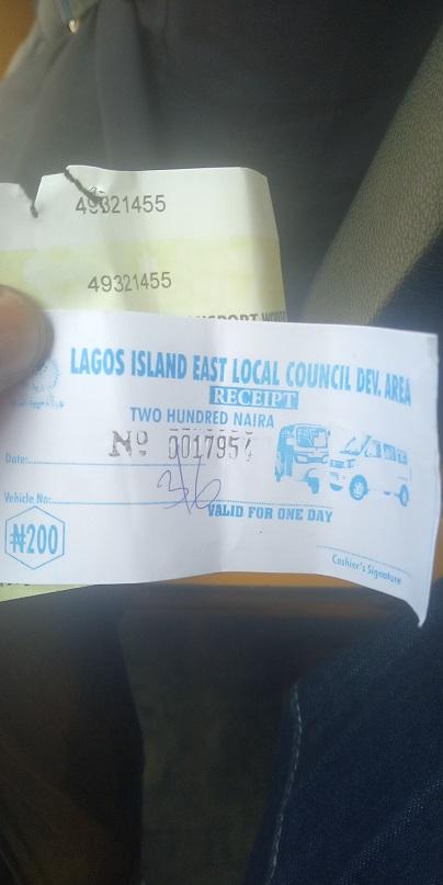 Lagos East LCDA ticket