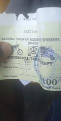NURTW ticket