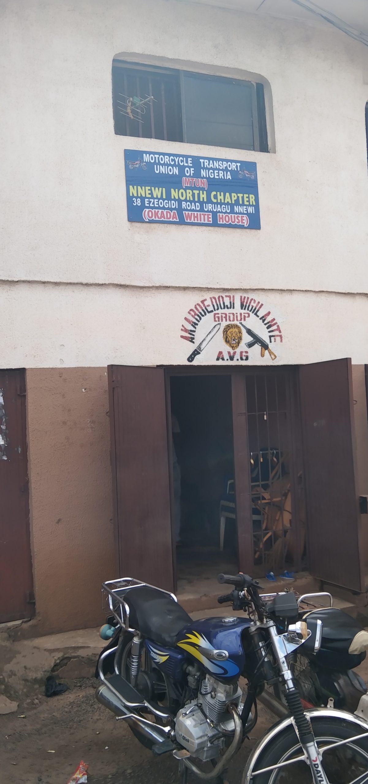 Office of Keke riders in Nnewi